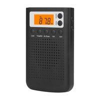 FM / AM Radio numérique stéréo portable Mini audition radio pour la batterie âgées Powered