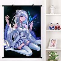 Anime Re: Zero kara hajimeru isekai seikatsu Beatrice Emilia Pergaminho de parede Mural Poster Tapeçaria Poster Home Decor Colecção