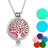 Nuova collana di aromaterapia Tree of Life Open Essential De Diffuser di diffusore Collana Profumo Pendenti Aroma Gioielli Aroma