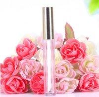 altın ile toptan sıcak 250pcs 10ML Mini yuvarlak dudak boru kozmetik ambalaj dudak parlatıcıları şişe boş kap