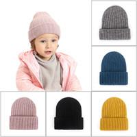 Bambino a maglia all'uncinetto berretto in inverno caldo tappi caldi all'aperto copricapo in cotone in cotone