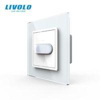 Smart Home Control Livolo UE Standard Standard Innuc / Touch Induction Interrupteur, Panneau de verre, Interrupteur d'éclairage mural Home, Induction infrarouge, Non Logo