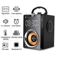 Speakers T3 Super Bass Bluetooth portátil Coluna estéreo HighPower 3D Subwoofer Music Center Suporte AUX TF FM Radio HIFI BoomBox