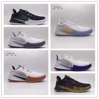 Hızlı Kargo 2020 Yeni Erkek Mamba Focus EP 5 Protro Kaos Basketbol Ayakkabı En Kaliteli Siyah Beyaz 8 24 Lüks Sneakers Boyut US 7-12