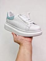 Pelle bianca superiore del progettista della piattaforma scarpe da tennis bianche scarpe da donna, gli uomini esterni Coppia Sport EU35-46, scatola, sacchetto di polvere esecuzione