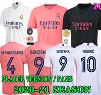 TEHLİKE OYUNCU VERSİYONU TARAFTARLAR Real Madrid futbol formaları 20 21 Militão camiseta 2020 2021 Erkekler uzakta üçüncü VINICIUS futbol forması çocuklar