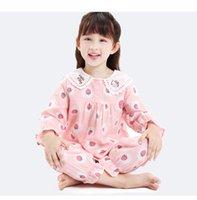 niños gilrs manga larga animal lindo pijamas 2020 nueva llegada material cómodo malhable