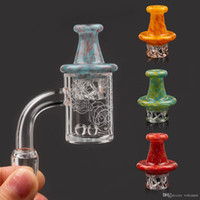 Newest 25mm Beveled edge quartz banger with spinning carb ca...
