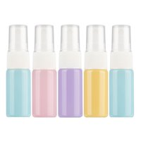5Pcs 10ml Refillable Bottles random color Spray Bottle Travel Small Empty Glass Atomizer Perfume Bottles Mini Cosmetic Container