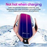 R9 Kablosuz Şarj Akıllı Sensör Araç Telefonu Oto Tutucu 10W Hızlı Şarj Klip Parantez İçin Akıllı Telefon