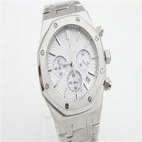 2020 Продажа Free Royal Oak Chronograph Кварцевый Останов Часы из нержавеющей стали черный циферблат Дата 26320ST Часы Браслет 41мм спорта Мужские наручные часы