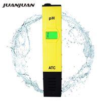 Metre 10 adet ATC PH Metre Yüzme Havuzu Su Testi Kalem Doğruluk 0.01 / Yeşil Arka Işık Sıcaklık Telafisi Fonksiyonu 31% KAPALI