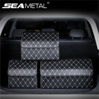 Кожа автомобили Магистральных устроителя хранение Складных автомобили ящик для хранения с крышкой Авто сумки закладочной Универсальной для уборки автомобиля SUV