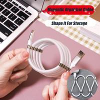 الروبوت Typec شاحن USB كبل البيانات المغناطيسي منظم USB مصغر نوع C-V8 التوصيل 5V 2.4A لسامسونج Note10 Note9 S9 هواوي P20 P30 MQ200
