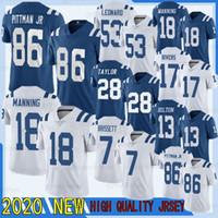 Jacoby Brissett 2020 Andrew Luck New T.Y. Hilton Jersey Michael Pittman Jr. Jonathan Taylor Darius Leonard Peyton Manning Philip Rivers
