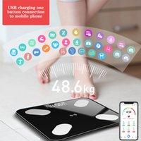 Bilancia bagno peso Piano di grasso corporeo Bilance digitali Bluetooth elettronico Outdoor mini intelligente Bilance con APP