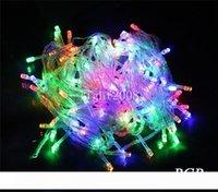 무료 배송 1pcs 10m 20m 30m 50m 60m (100 200 300 500 600LED) 문자열 요정 조명 빨간색 파란색 흰색 colorfull 결혼 반짝 반짝 빛