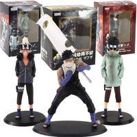 Naruto shippuden inuzuka kiba aburame shino momochi zabuza animation leksaker pvc action figur modell docka gåvor