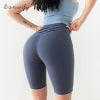 Curve Frauen Zurück Querverband Fitness Shorts Push Up Hip Tights mit hoher Taille, Bauch Jogging Yoga Sport Shorts