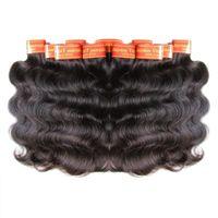 Wholesale Малайзийская Волна для тела Человеческие Волос Усиливания волос Усикалы Weaves 1 кг 20 шт. Лот Натуральный цвет Реал-Малайзийский Гедомао Cabelos 50G / ПК