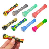 Silikonraucher-Rohrglas-Bongs 3,4 Zoll Zigarettenhandrohre tragbare Mini-Tabak-Rohrzigarettenhalter