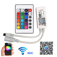 وحدة تحكم WiFi الذكية متوافقة مع Alexa Google Home، تعمل مع نظام Android، نظام iOS، أضواء قطاع LED RGB
