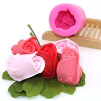 3D Rose Mould DIY Fondant Cake Mousse Mould Candle Mold Dry ...