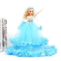 Princess Gift Dress Barbie Doll 40cm Evening Wedding Outfit Wears Party Girl Long Set Accessories Clothes Toy Dress Kids Xtrdw