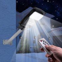 30W / 90W / 120W LED Luzes Solar Luzes de Rua Ao Ar Livre Lâmpada de Parede Da Lâmpada De Parede À Prova D 'Água Controle de Luz Radar Sensor Externo Lâmpadas de Controle Remoto
