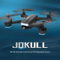 بدون طيار بدون طيار 2.4 جرام WiFi FPV مع 4K HD كاميرا واسعة زاوية المهنية الهوائية المهنية تتبعني طوي أربعة محاور RC هليكوبتر