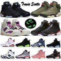 hombres Negro Infrared  6 6s Zapatillas de baloncesto para hombre CNY Carmine Gatorade Green Tinker UNC Black Cat Designer zapatillas de deporte zapatillas EE. UU. 7-13