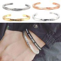 Bracelets de charme bracelet inspirant en acier inoxydable n'abandonnez jamais gravé Motivational AMI ENCOURAGES Cadeau de bijoux de Mantra