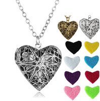 Heart Shape Диффузоры Рождество Красочной Медальон ожерелье свитер ожерелье Медальон Подвеска Ароматерапия Диффузор ожерелье Pandent LSK920