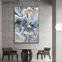 Imagen abstracta moderna de la lona del arte del cartel y la impresión de la pintura de la pared de la pared de la pintura contemporánea de la pintura de la pared para la entrada de la sala de estar