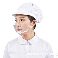 Ağız Spit Muhafız Teşkilatı Cook Garson / Garson Bar Anti-frost tasarımcı Maske için Restoran Otel Şeffaf Plastik Yüz Maske Kullanılan Maskesi