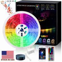 RGB LED Strips Light Kit 5M 150 300LEDS SMD 5050 12 V LED Strips Waterdicht + 44Keys Controller + Power Drivers + Exquisite Verpakkingsdoos