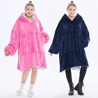 Cozy Blanket Oversized moletom com capuz Hoodies TV Brasão Thicken velo Pullover 649C