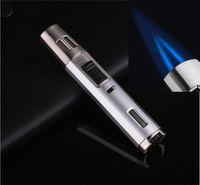 Lápis dupla chama da tocha Brasagem ajustável cigarro butano Gás Welding Torch Isqueiro para Bongo de vidro com caixa de presente DHL livre