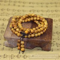 6mm Buddha bead sandalwood 108 Buddha beads bracelet four- Ci...