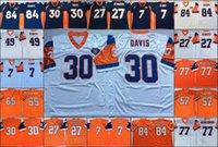 NCAA старинные футбольные одежды сшитые мужские трикотажки Shannon Sharpe John Elway 27 Стива Atwater 49 D.smith 77 Mecklenburg 30 Davis 57 T.Jackson