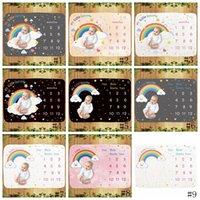 18 estilos Bebê Milestone Blanket fotografia infantil fundo cobertores suportes fotográficos Letras do arco-íris animal cobertor de lã GGA3636