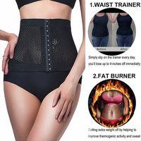 المرأة مشد الخصر المدرب الجسم للتنحيف الملابس الداخلية Shapewear المتقلب البطن حزام التخسيس ملابس داخلية مشدات حرق الدهون للياقة البدنية