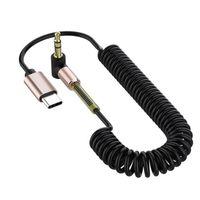 نوع USB C إلى 3.5 ملليمتر جاك سماعة محول USB TYPE-C 3.5 aux سماعة رأس لسامسونج هواوي Xiaomi USB C كابل الصوت