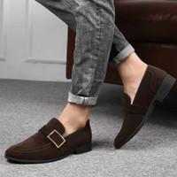 Формальная одежда Матовый текстуры Мужчины бизнес обувь большого размера с низким каблук износостойкие и противоскользящие подошвы кожаной обуви Легкая текстура