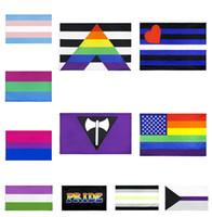 Regenbogen-Flagge 90x150cm amerikanische Homosexuell und Homosexuell Stolz Polyester Banner Flag Polyester Bunte Regenbogen-Flaggen für die Dekoration