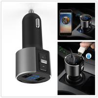 스마트 폰 듀얼 USB 포트와 블루투스 FM 송신기 무선 차량용 MP3 플레이어 블루투스 송신기 라디오 FM 송신기