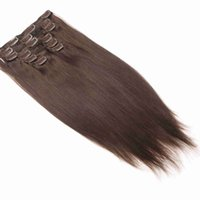 160G 200G Brazilian Full Machine Made Remy Straight Clip In Human Hair Extensions Full Head Set 7Pcs 10 To 26 inch DHL