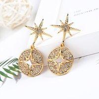 Freies Verschiffen Art und Weise Frauen SchmucksachenRhinestonezircon-Diamant-Anhänger Stern-Ohrringe