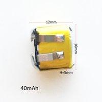 Модель: 501012 3.7V 40mAH маленького размера Lipo Аккумулятор литий-полимерные батареи клетки для MP3-Bluetooth-гарнитура для наушников