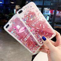 Sıvı Quicksand Oppo A37 A59 A57 A71 Için Glitter Kılıfları A71 73 A83 A7 A3 A79 A5 A3S A77 Şeftali Çiçeği Flamingo Telefon Kılıfı
